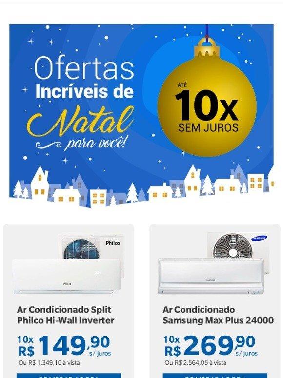 b124349eb Arcondicionado  Ofertas Incríveis de Natal para você se refrescar ...