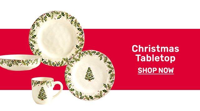 Shop Christmas tabletop.