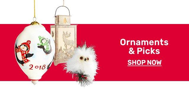 Shop all ornaments and picks.