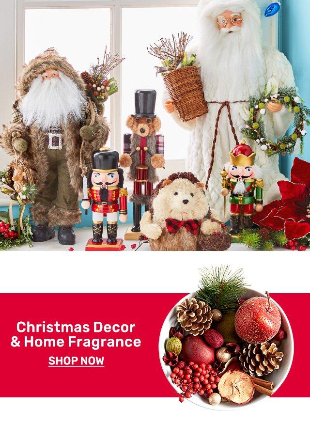 Shop Christmas decor and home fragrance.
