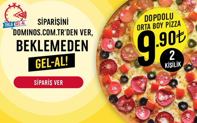 Dominos Cps Orta Boy Dopdolu Pizza 990 Tl Milled