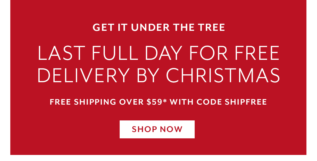 Final Day Free Shipping