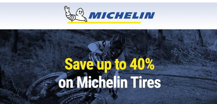 Save up to 40% on Michelin Tyres
