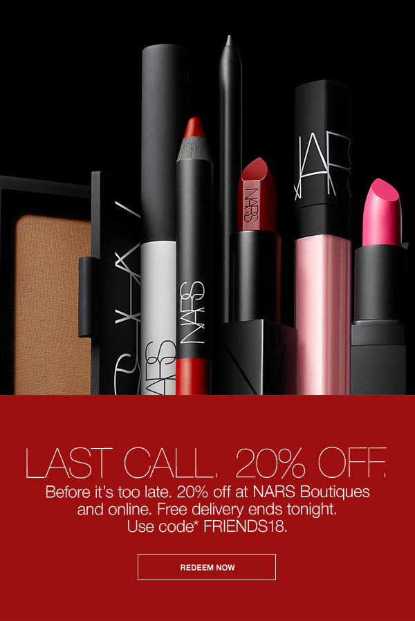 9b26c32f04 NARS Cosmetics  UK  What are you waiting for  20% off.