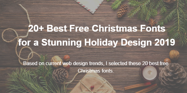 Best Christmas Fonts.Template Monster 20 Best Free Christmas Fonts For A