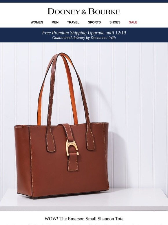 58c699cc3dfc Dooney and Bourke  WOW! The Emerson Small Shannon Tote for  199