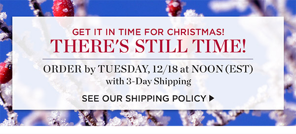 Get it in time for Christmas. Order by Tuesday 12/18 at noon EST with 3-Day shipping. See our shipping policy.
