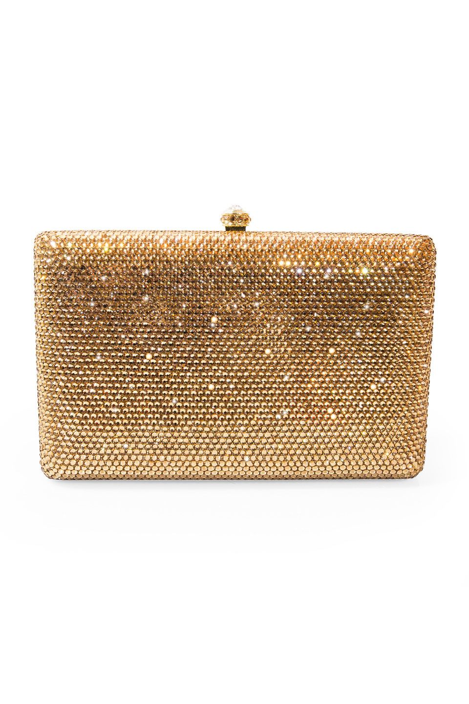 Crystal Lily Clutch in Gold