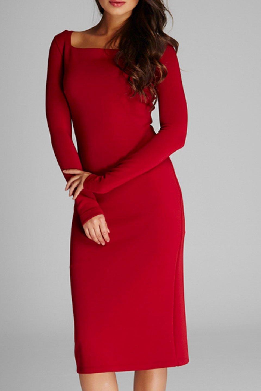 Marianne Dress in Burgundy