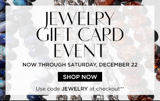 Jewelry Gift Card Event