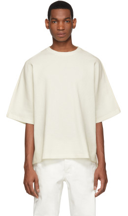 Jil Sander - Off-White Waffle Knit T-Shirt