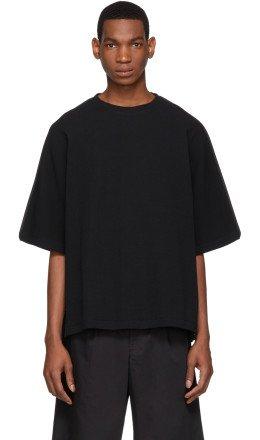 Jil Sander - Black Waffle Knit T-Shirt