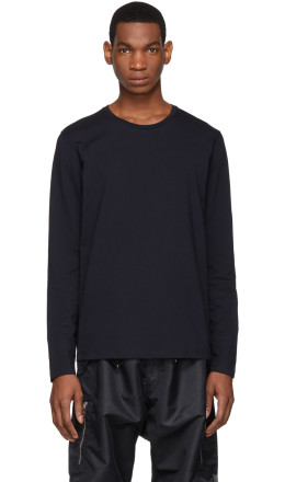 Jil Sander - Navy Cotton Long Sleeve T-Shirt