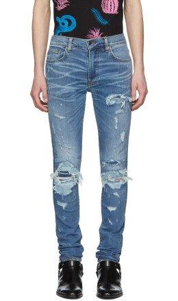 Amiri - Indigo Super Repair Jeans