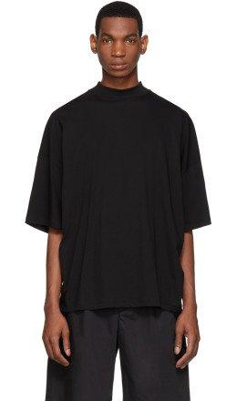 Jil Sander - Black Mock Neck T-Shirt