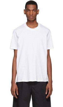 Jil Sander - White Round Neck T-Shirt