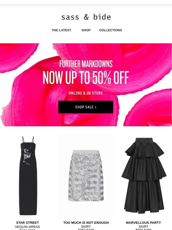 Sass Bide Sale Now Up To 50 Off Selected Styles Milled