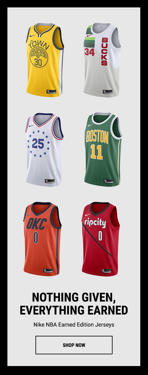 wholesale dealer be994 95f14 Footaction : Rep your team with the Nike NBA Earned Edition ...