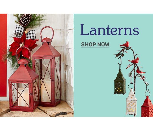 Shop lanterns.