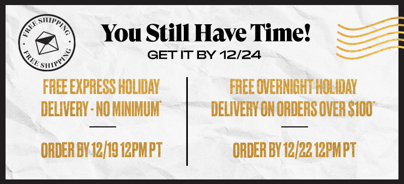 You Still Have Time! Free Delivery Offers