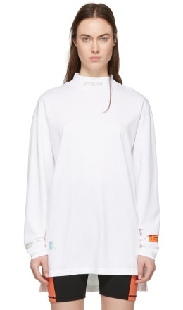 Heron Preston - White 'Style' Turtleneck