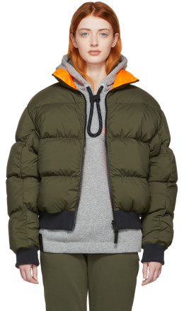 NikeLab - Reversible Khaki & Orange Down NRG Puffer Jacket