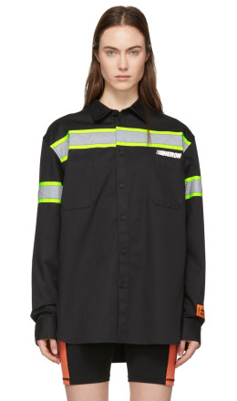 Heron Preston - Black Reflector Shirt