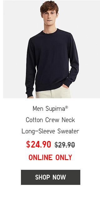 NEN SUPIMA COTTON CREW NECK LONG-SLEEVE SWEATER $24.90 - SHOP NOW