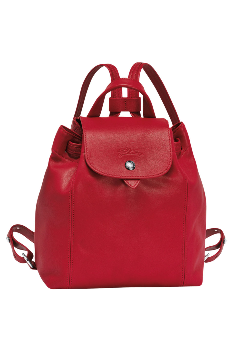 Le Pliage Cuir Backpack Xs in Red