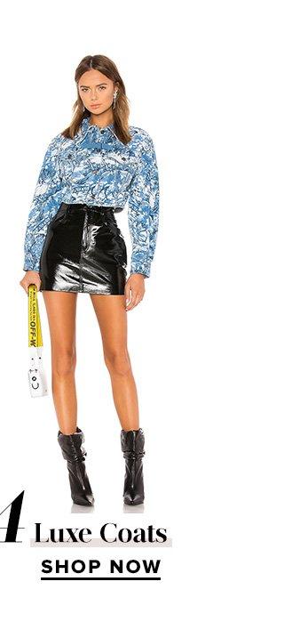 Luxe Coats. Shop Now.