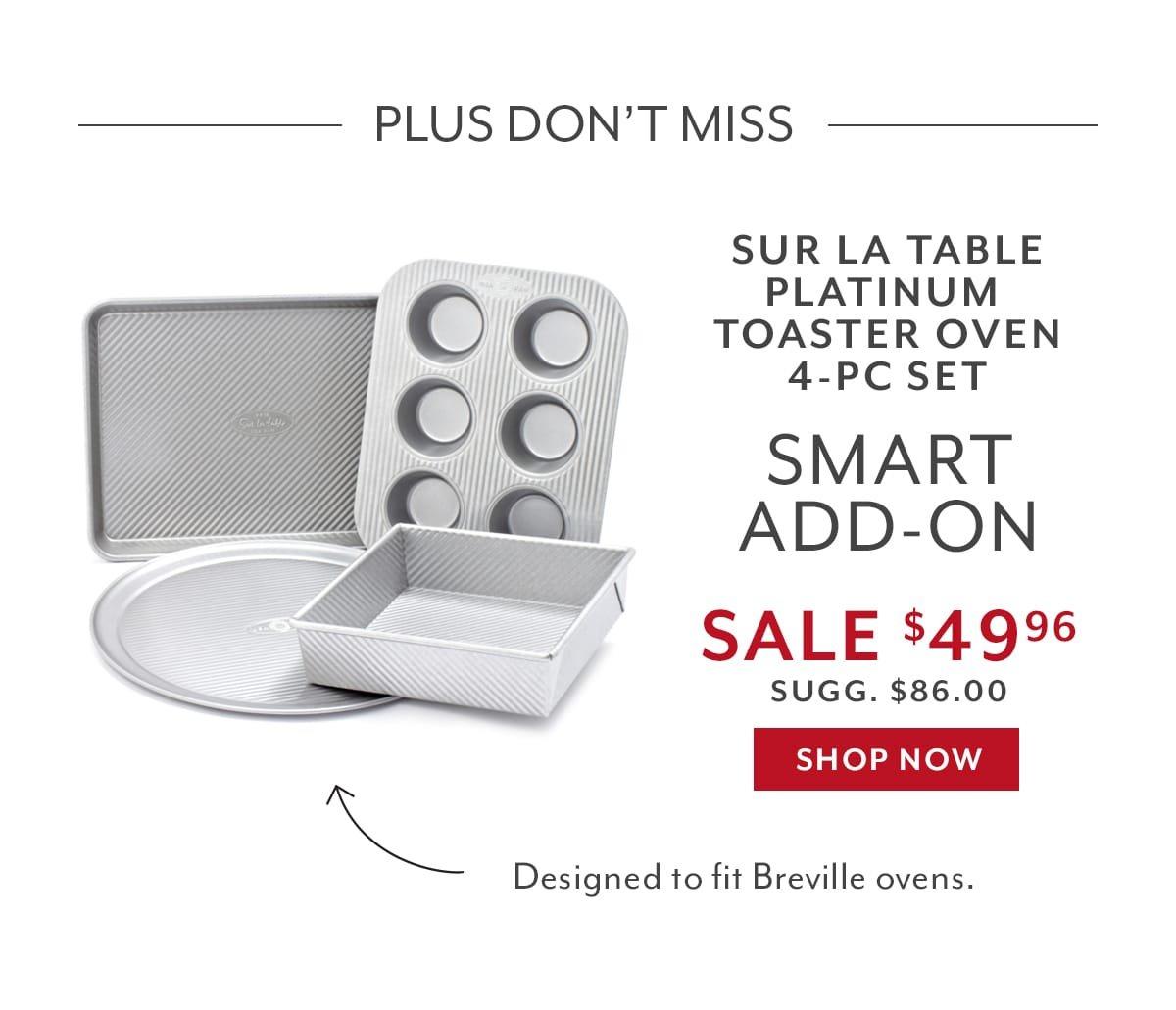 Sur La Table Platinum Toaster Oven 4-PC Set