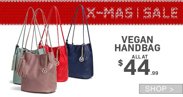 PRE-BOXING DAY SALE: VEGAN HANDBAGS
