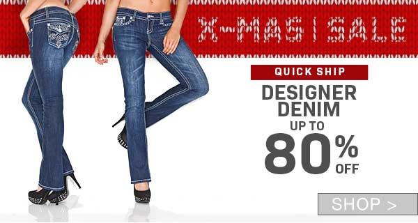 PRE- BOXING DAY SALE: DESIGNER DENIM