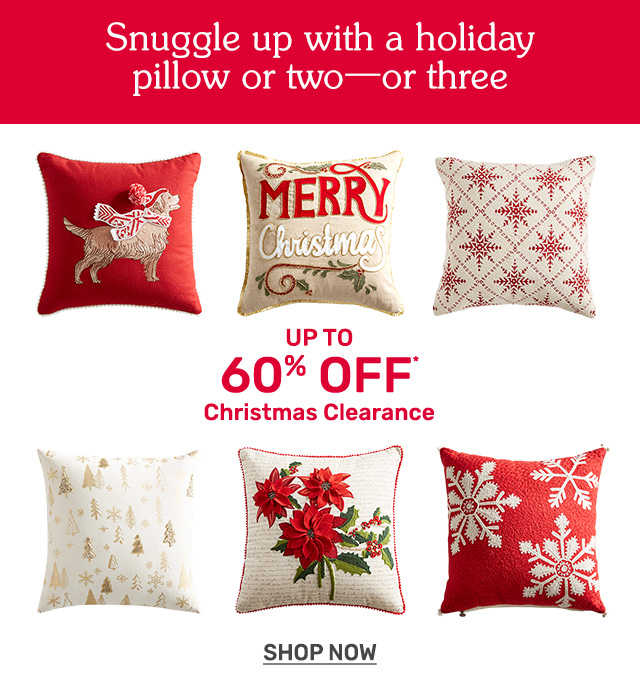 Get up to sixty percent off Christmas clearance.
