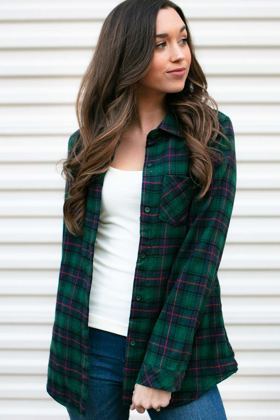 cool fleece lined plaid top