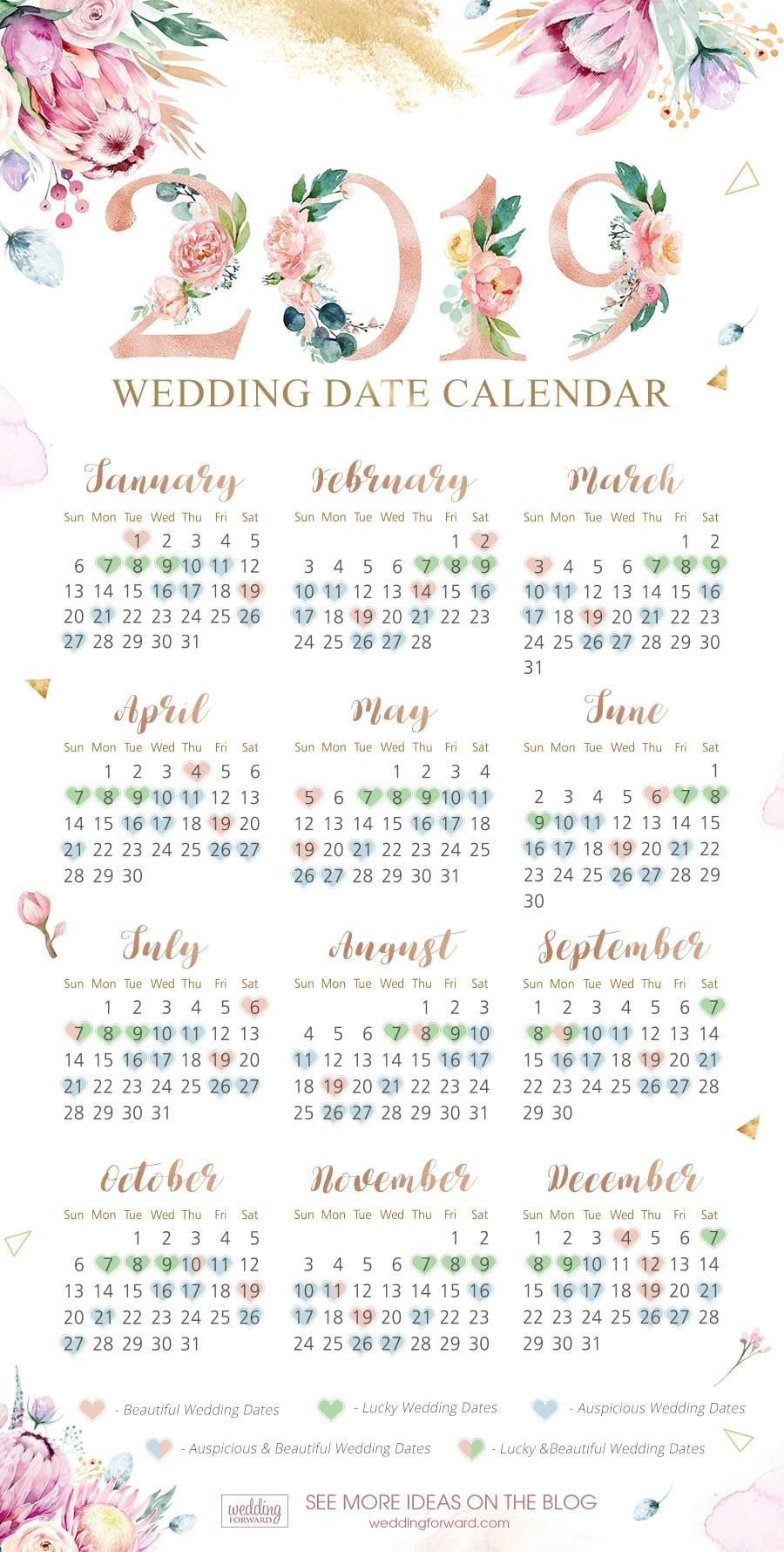 Auspicious Wedding Date 2020