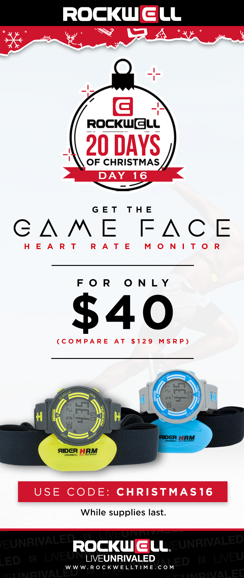 Rockwell: The Rockwell Game Face Heart Rate Monitor Watch