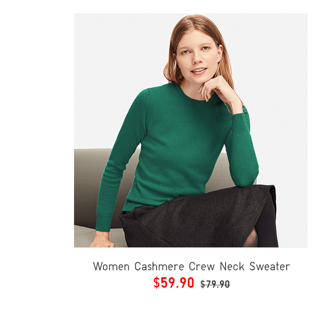 WOMEN CASHMERE CREW NECK LONG-SLEEVE SWEATER $59.90