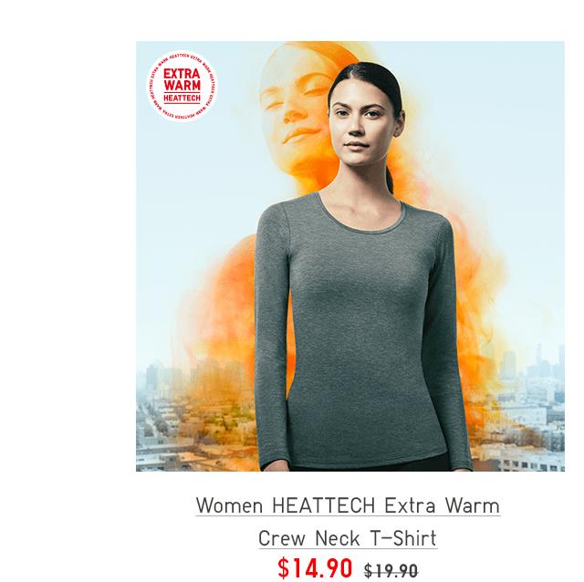 WOMEN HEATTECH EXTRA WARM CREW NECK T-SHIRT $14.90
