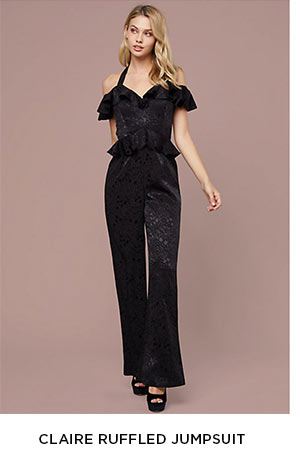 Claire Ruffled Jumpsuit: