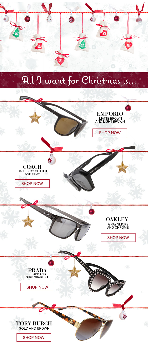 DESIGNER SUNGLASSES END OF YEAR BLOWOUT