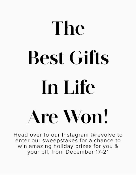 The Best Gifts In Life Are Won!