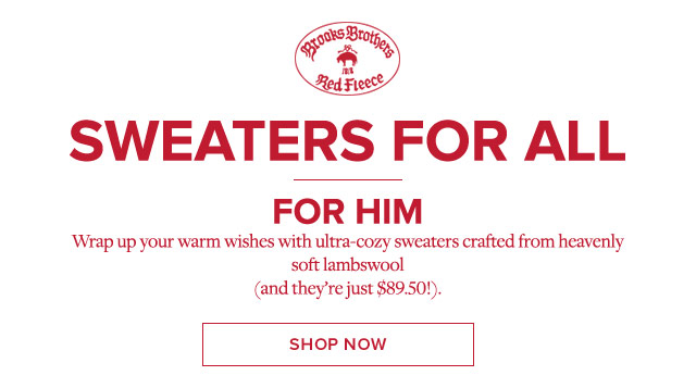 SWEATERS FOR ALL - FOR HIM. SHOP NOW