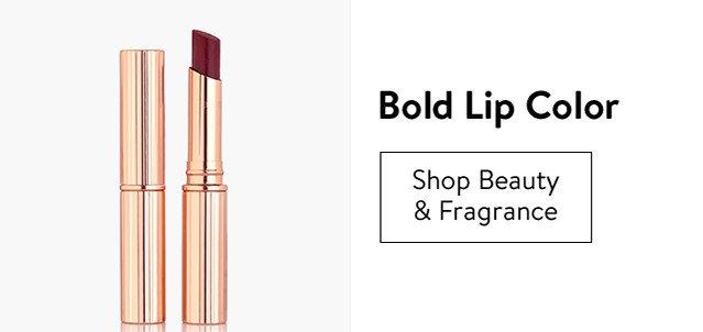 Bold lip color.