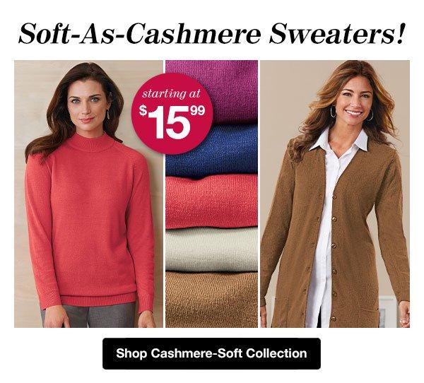 Shop Women's Cashmere-Soft Collection!