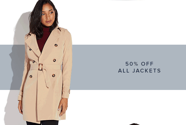 SHOP 50% OFF ALL JACKETS