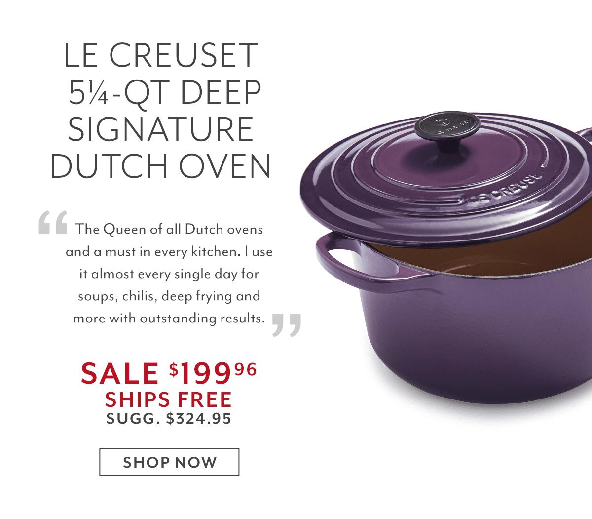 Le Creuset Signature Deep Round Dutch Oven, 5.25 qt.