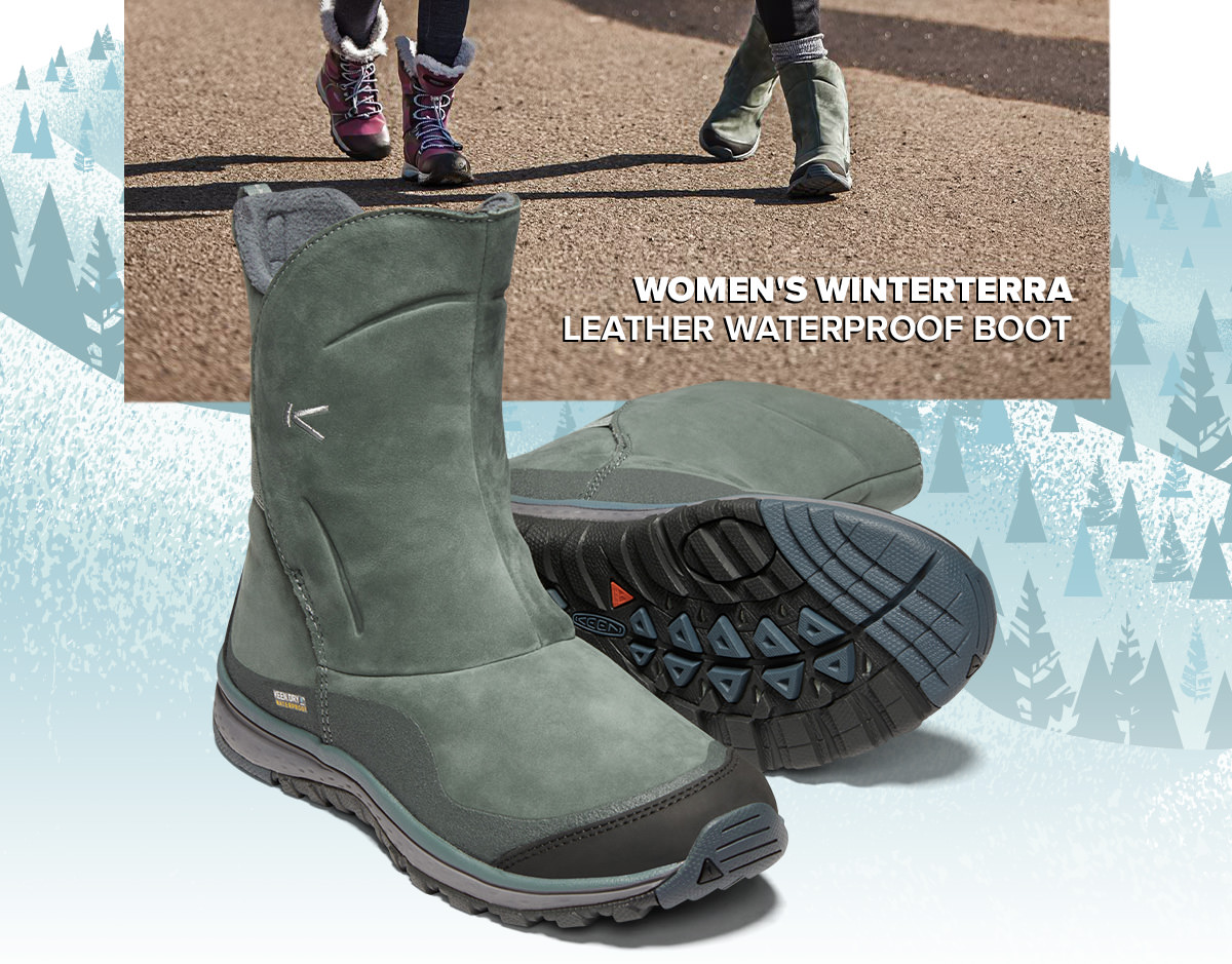 9f1e4bf80a WOMEN'S WINTERTERRA LEATHER WATERPROOF BOOT. In this season's iffy weather,  outdoor adventures take a little more planning—and the right winter boot.