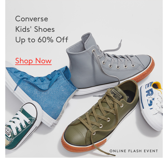 Converse Kids' Shoes Up to 60% Off | Shop Now | Online Flash Event