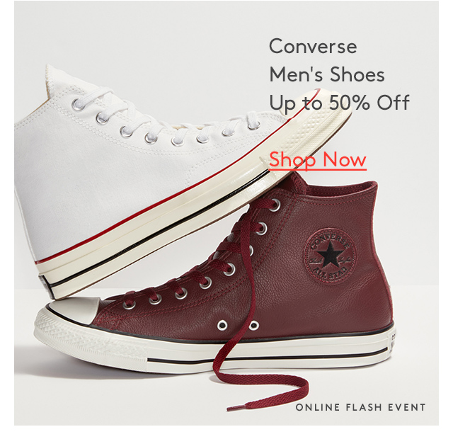 Converse Men's Shoes Up to 50% Off | Shop Now | Online Flash Event